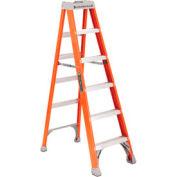 Louisville 6' Fiberglass Step Ladder - 300 lb Cap. - FS150-6