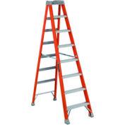 Louisville 8' Fiberglass Step Ladder - 300 lb Cap. - FS150-8