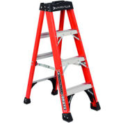 Louisville 4' Fiberglass Step Ladder - 375 lb Cap. - FS1404HD