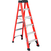Louisville 6' Fiberglass Step Ladder - 375 lb Cap. - FS1406HD