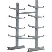 "Cantilever Rack Double Sided, Starter Unit Medium Duty, 48"" W  x 54"" D x 8'H, 10600 Lbs Capacity"
