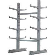 "Cantilever Rack Double Sided, Starter Unit Medium Duty, 48"" W  x 54"" D x 8'H, 10600 Lbs Capacity"