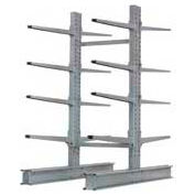 "Cantilever Rack Double Sided Starter Unit Heavy Duty, 48"" W  x 59"" D x 8'H, 26600 Lbs Capacity"