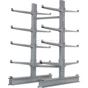 "Cantilever Rack Double Sided Starter Unit Heavy Duty, 48"" W  x 59"" D x 8' H,  26600 Lbs Capacity"