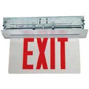 TCPI 2EG01 Recessed Mount Red Edgelit Exit AC