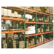"""Pallet Rack Netting Two Bay, 198""""W x 48""""H, 4"""" Sq. Mesh,2500 lb Rating"""