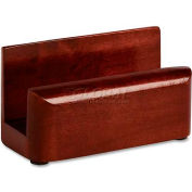 Wood Tones Business Card Holder, Mahogany