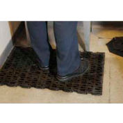 """Durable Corporation Durite Recycled Tire Anti Fatigue Mat 5/8"""" Thick 2.5' X 4' Black"""