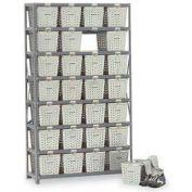 Basket 65830 Rack Locker For 24 Baskets 40x13x79