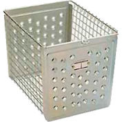 "Perforated 9641 Front Steel Locker Basket 12""W"