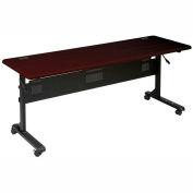 """Flipper Training Table, 72"""" x 24"""", Mahogany"""