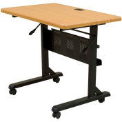 Flipper Training Table, Rectangular, 36 x 24, Teak