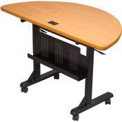 Flipper Training Table, Half-Round, Teak
