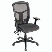 Mesh Task Chair - Mesh Seat - High Back - Black