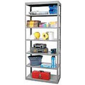 "Hallowell Steel Shelving  48""Wx18""Dx87""H Open Clip Style 7 Shelf"