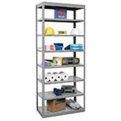 "Hallowell Steel Shelving  48wx12""Dx87""H Open Clip Style 8 Shelf"