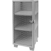 "Jamco Heavy Duty Narrow Storage Cabinet ME230 - Expended Mesh Door 30""W x 24""D x 54""H"