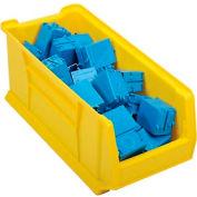 """Akro-Mils Super-Size AkroBin® 30287 - Stacking Bin 11""""W x 23-7/8""""D x 10""""H Yellow - Pkg Qty 4"""