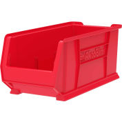 "Akro-Mils Super-Size AkroBin® 30287 - Stacking Bin 11""W x 23-7/8""D x 10""H Red - Pkg Qty 4"