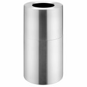 Global Industrial™ Aluminum Trash Container - Satin Clear 20 Gallon Capacity