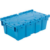 Plastic Shipping Container - Hinged Lid Storage DC2012-07 19-5/8 x 11-7/8 x 7 Blue - Pkg Qty 6
