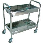 Luxor® SST2S Stainless Steel Cart 33-1/2 x 17-1/2 x 35-1/2 200 Lb. Cap.