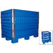 Vestil MULTI-C Multi-High Container 2000 Lbs Capacity, Blue