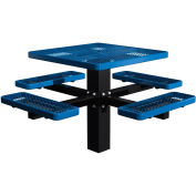 "46"" Single Post Square Picnic Table Expanded Metal"