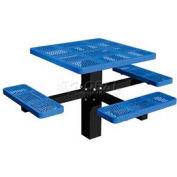 "46"" Single Post Square Picnic Table (ADA) Perforated Metal"