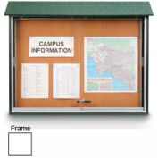 "United Visual Products Sliding-Door Outdoor Message Center - 52""W x 40""H - White"