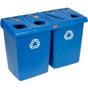 Rubbermaid Glutton® Waste and Recycling Station - Blue