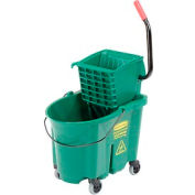 Rubbermaid WaveBrake® Side Press Mop Bucket & Wringer Combo - Green