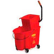 Rubbermaid WaveBrake® Side Press Mop Bucket & Wringer Combo - Red