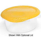 """Rubbermaid Commercial FG572024CLR - Storage Container, Round, Semi-Clear, 2 Qts., 8-1/2"""" Dia. x 4""""H - Pkg Qty 12"""