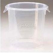"""Rubbermaid Commercial FFG572124CLR - Storage Container, Round, 4 Qt., 8-1/2"""" Dia. x 7-3/4""""H - Pkg Qty 12"""