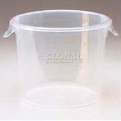 "Rubbermaid Commercial FG572624CLR - Container Semi-Clear, Round, 3 Gal. 13-1/8"" Dia. x 8-1/8""H - Pkg Qty 6"