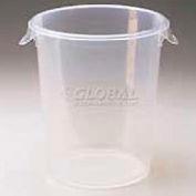 "Rubbermaid Comm. FG572824CLR - Storage Container, Round, 5-1/2 Gal., 13-1/8"" Dia. x 14""H - Pkg Qty 6"