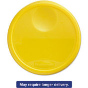 "Rubbermaid Commercial FG573000YEL - Lid For 13-1/8"" Dia. 12, 18, 22 Qt., Containers, Yellow"