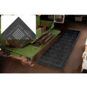 "Diamond Flex-Lok Antifatigue Drainage Mat 30""X 36"" 3 Sides Black"