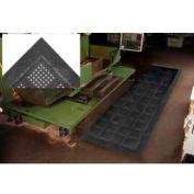 "Diamond Flex-Lok Antifatigue Drainage Mat 30""X 48"" 3 Sides Black"