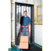 Aleco® Air-Flex® Black Insect Barrier & Bug Curtain 405008 4'W x 7'H