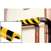 "Pipe Bumper Guard, Type R1, 39-3/8""L x 2""W x 1""H, Yellow/Black"