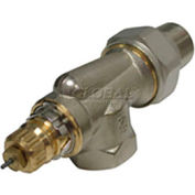 """Radiator or baseboard  valve body - 3/4"""" side mount, angle for 2-pipe steam"""