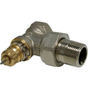 """Radiator or baseboard  valve body - 1 1/4"""" angle for 2-pipe steam"""