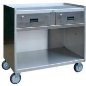 Jamco Stainless Steel Mobile Cabinet YK136 with 2 Drawers