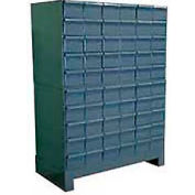 "Durham Steel Drawer Cabinet 025-95 - With 60 Drawers 34""W x 11-3/4""D x 48""H"