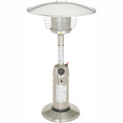 Hiland Patio Heater HLDS032-B Propane 11000 BTU Tabletop Stainless Steel