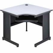 "36""W Corner Desk Gray"