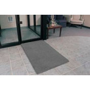"""Rubber Backed Barrier Rib Entrance Mat 3'X4' 3/8"""" Thick Gray"""