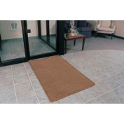 """Rubber Backed Barrier Rib Entrance Mat 4'X10' 3/8"""" Thick Brown"""